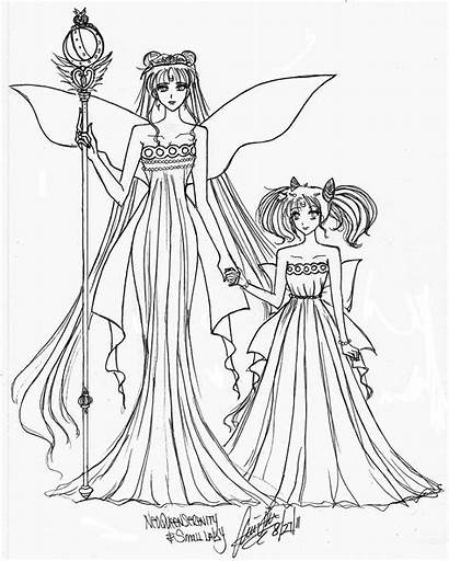 Daughter Mother Coloring Pages Serenity Anime Mom