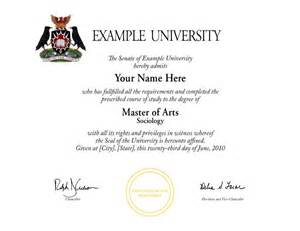Fake College Diploma Template