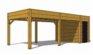 Abri Voiture En Bois : code fiche produit 1358829 ~ Nature-et-papiers.com Idées de Décoration