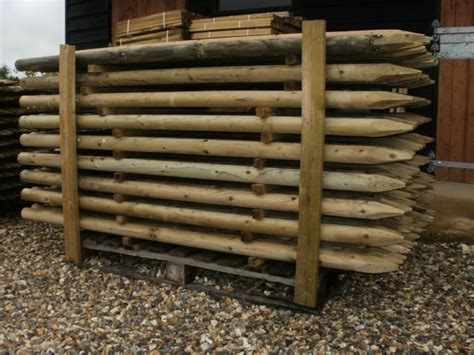 10 1.8m (6ft) X 60mm Pressure Treated Machine Round Wooden