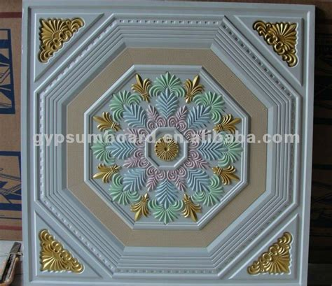 60x60 or 2x2 painted artistic fiberglass gypsum ceiling