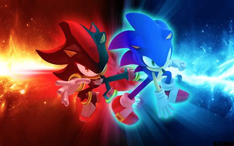 Cool Sonic and Shadow Wallpaper