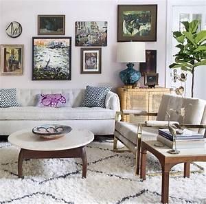 belle decoration a la maison avec le tapis shaggy blanc With tapis chambre bébé avec bakker plantes et fleurs