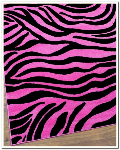 Pink Zebra Print Rug  Best Decor Things