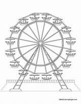 Ferris Wheel Coloring Printable Drawing Wheels Medicine Sheets Amusement Fair Craft Drawings Theme Thumbprint Crafts Carnival Farris Getcolorings Classroom Popular sketch template