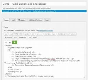 Use Default Values For Contact Form 7 Radio Buttons