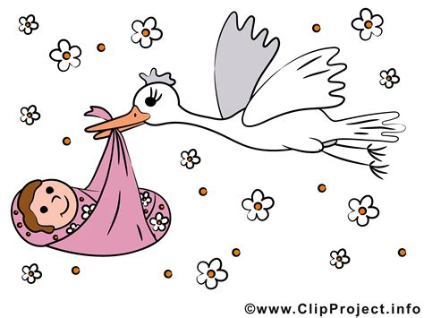 Baby Clip Storch Und Baby Clipart Bild