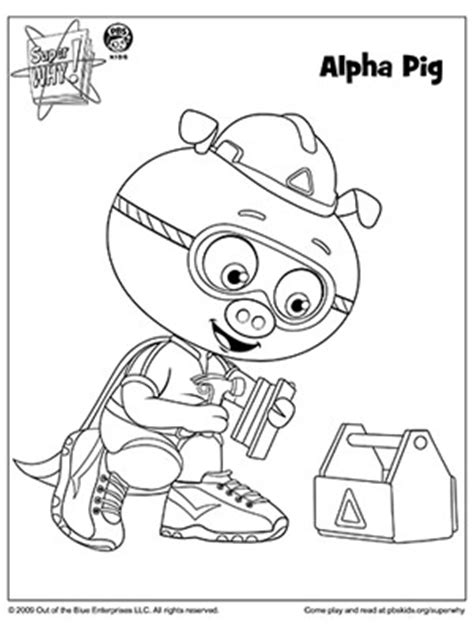 super  coloring book pages  pbs