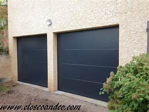 Porte De Garage Gris Anthracite : closeo ~ Melissatoandfro.com Idées de Décoration