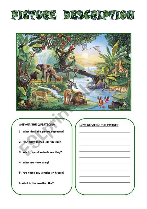 picture description  esl worksheet  sarahkay