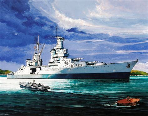 Uss America Sinking Pictures by Maritimequest The Art Of Uss Indianapolis