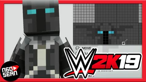 How To Make Popularmmos Minecraft Skin In Wwe 2k19