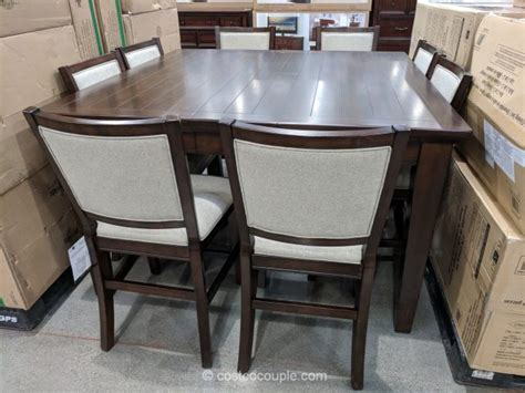 costco dining table in store pulaski furniture 9 piece counter height dining set