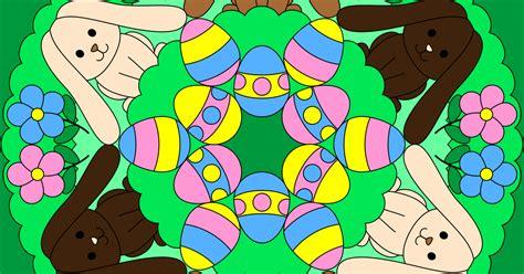 Easter Bunny And Egg Mandala To Color