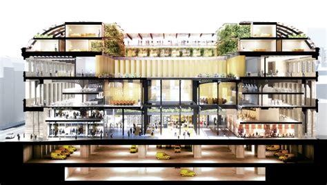 dominique perrault d 233 voile projet pour la poste de la rue du louvre projets
