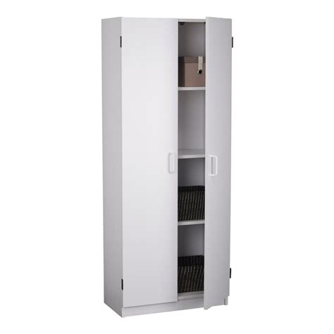 white pantry cabinet lowes shop ameriwood home 23 63 in w x 59 69 in h x 12 5 in d