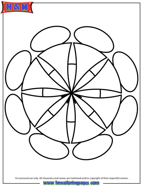 Coloring Easy by Easy Mandala Coloring Page H M Coloring Pages