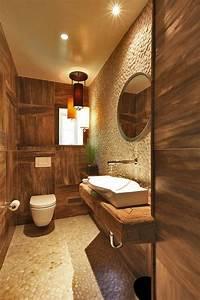 les beaux exemples de salle de bain rustique 40 photos With salle de bain design avec evier rustique