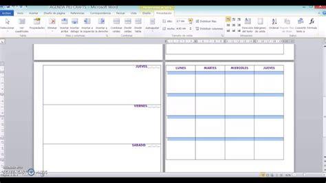 Crear Template De Pagina En by Como Crear Y Dise 209 Ar Tu Propia Agenda Desde Word Youtube