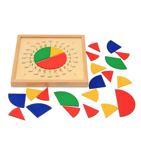 baby toys circular mathematics fraction division teaching aids montessori board wooden toys