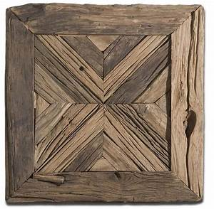 luxe horchow rustic pine reclaimed wood wall art square With wood wall decor using reclaimed wood