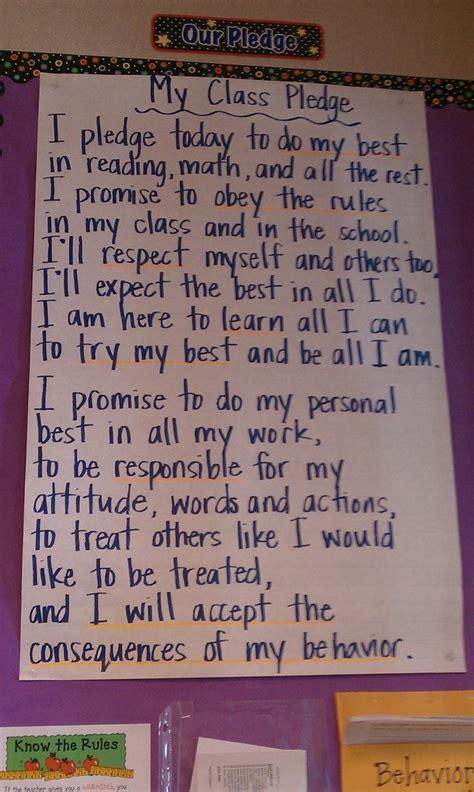 classroom pledge       recite