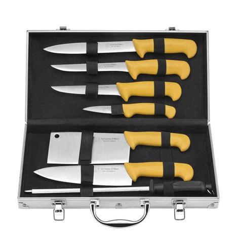 couteau de cuisine pradel albert de thiers mallette eco 8 pièces acier inox