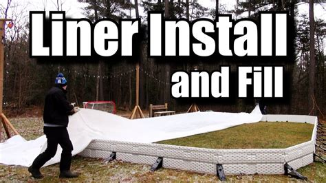 Backyard Rink Tips by How To Install A Backyard Rink Liner And Fill It