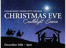 Candlelight Service Cedarcreek Community Church