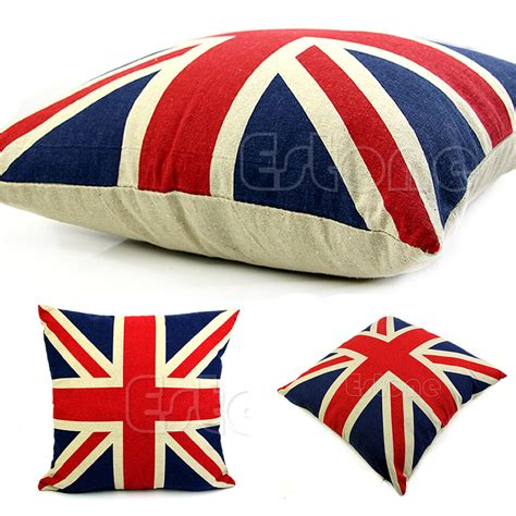 Union Cusions - union uk flag square 16 quot pillow cases linen home