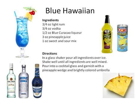 blue hawaii drink ingredients luau drink recipes midnight mixologist