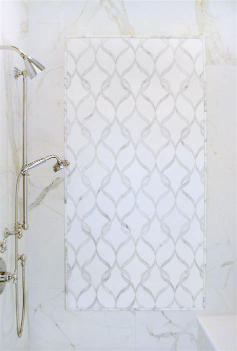 walk in shower with new ravenna tiles