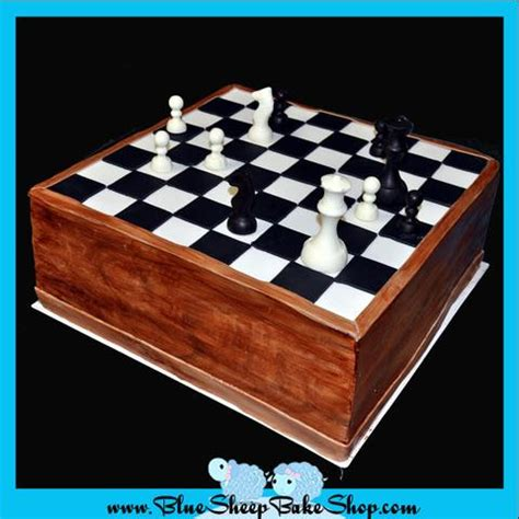chess board sculpted birthday cake blue sheep bake shop