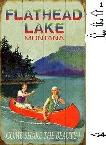 Boat Supplies Kalispell by Personalized Vintage Lake Sign Cabin Ideas