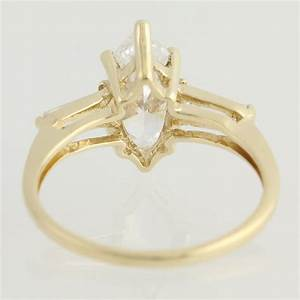 cz engagement ring 10k yellow gold cubic zirconia size 7 With gold cubic zirconia wedding rings