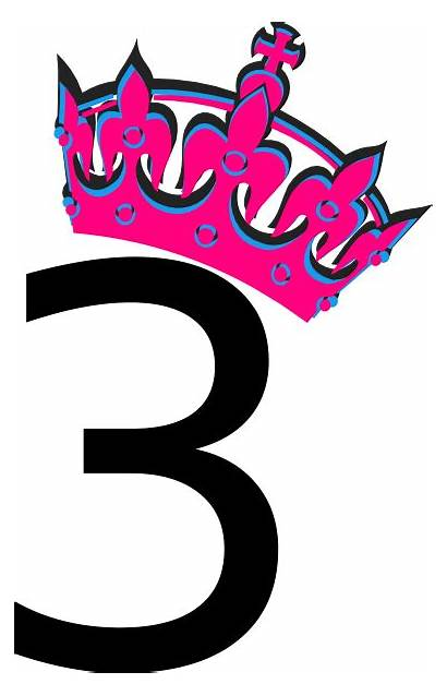 Number Pink Tiara Clipart Clip Tilted Cliparts