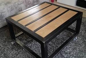 Meuble Acier Bois : meuble acier bois ~ Teatrodelosmanantiales.com Idées de Décoration