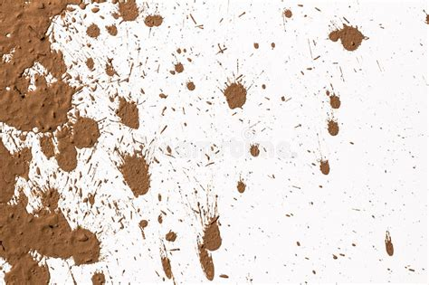 texture clay moving  white background stock image