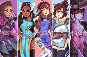 Print Overwatch Girls By K0USEKI On DeviantArt