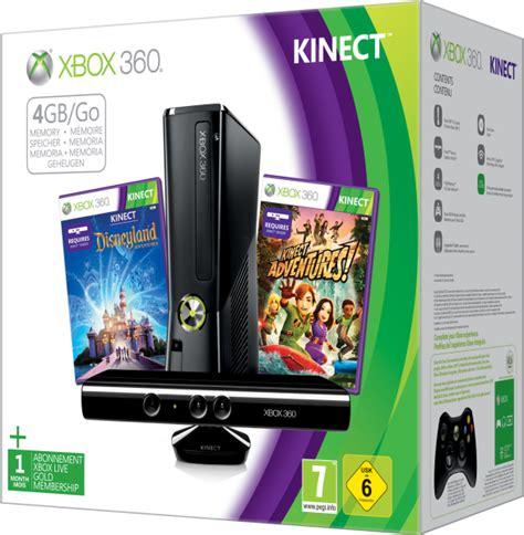 xbox 360 kinect xbox 360 4gb kinect bundle includes kinect adventures kinect disney land adventures 1