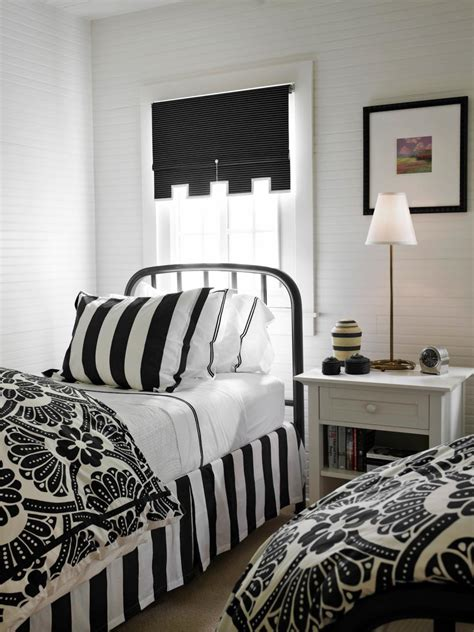 black  white bedrooms hgtv