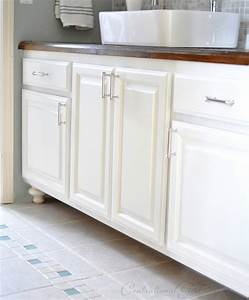 painted bathroom cabinets centsational girl With how to paint an old bathroom vanity