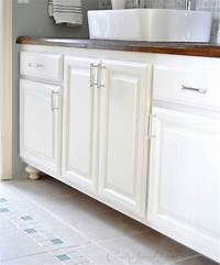 painting bathroom vanity Painted Bathroom Cabinets   Centsational Style