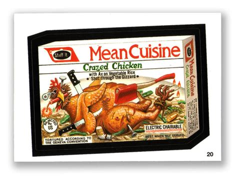 wacky packages topps 2004 1st series cuisine 20