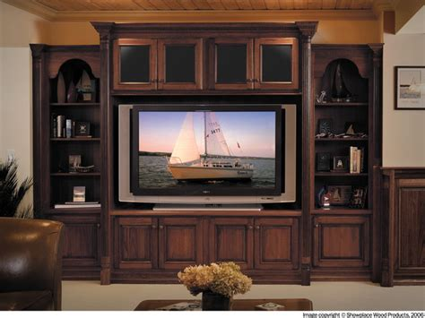 wooden cabinets for living showplace cabinets family room traditional living