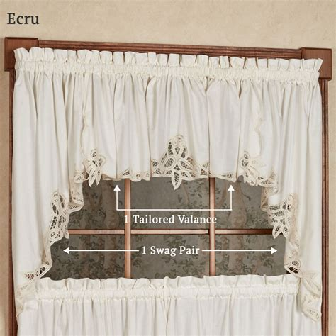 Battenburg Lace Curtains Swags by Battenburg Lace Edge Swag Pair 60 X 30 Touch Of Class