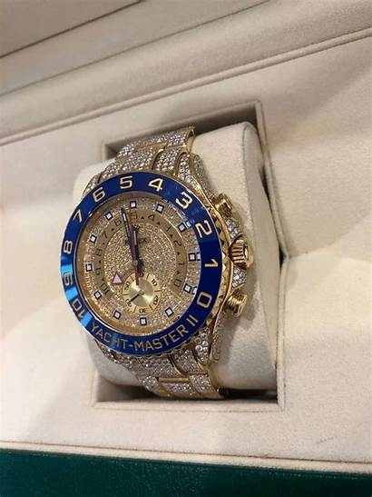 Rolex Gold Diamond Yellow Yachtmaster Ii Watches