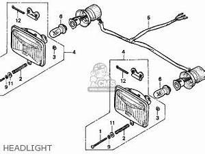 honda trx300 fourtrax 300 1996 t usa parts list With honda trx 90 lights