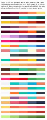 what are good color combinations 23 color schemes as an inspiration or starting point for your Flat-UI design - Autumn Edition ...