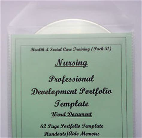 nursing professional portfolio template reflective practice in nursing portfolio template cd professional development ebay